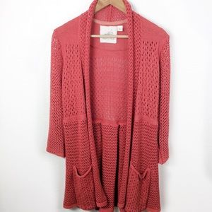 Angel Of The North Matinee Open Cardigan Sweater